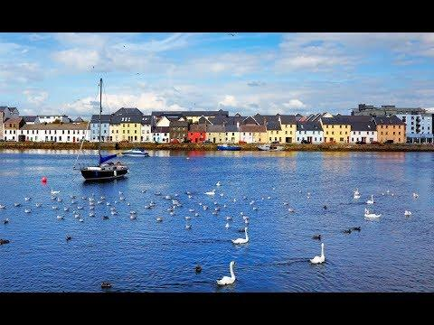 Galway In Ireland , Before Hurricane Ophelia, Pubs, Bars, Hotels, Ships ,port, Travel , Holiday,