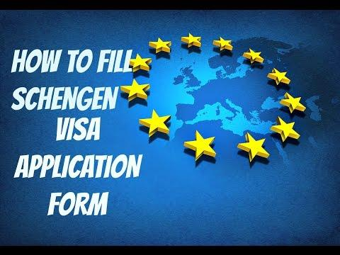 How To Fill Schengen Visa Application Form || 2019 || Step By Step Guide