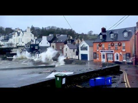 Kinsale In Ireland , Before Hurricane Ophelia, Colourful Houses, Hotels, Travel , Holiday, Bay