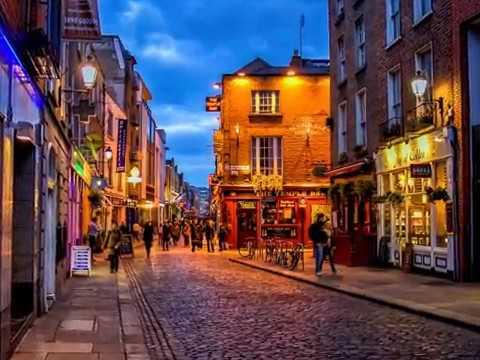 Dublin |  Ireland, A Trip To Beautiful Nightlife , Landmarks, Bridges, Buildings, Shops, Hotels,